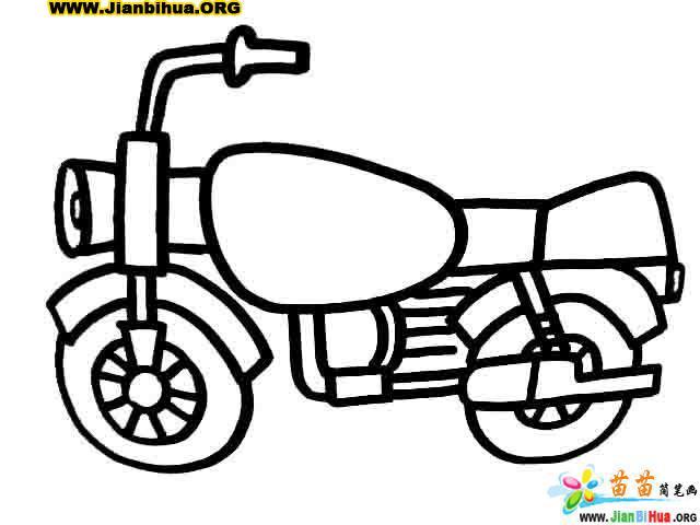 救护车简笔画 叉车简笔画 巴士简笔画 摩托车简笔画作品 第4张