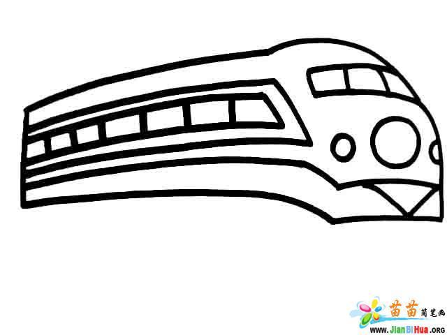 火车简笔画 消防车简笔画 战斗机简笔画图片 第2张