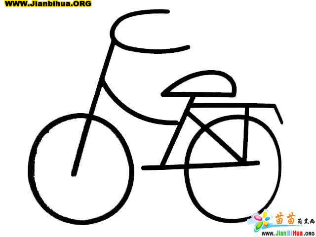 自行车简笔画 快艇简笔画 帆船简笔画 火箭简笔画图片
