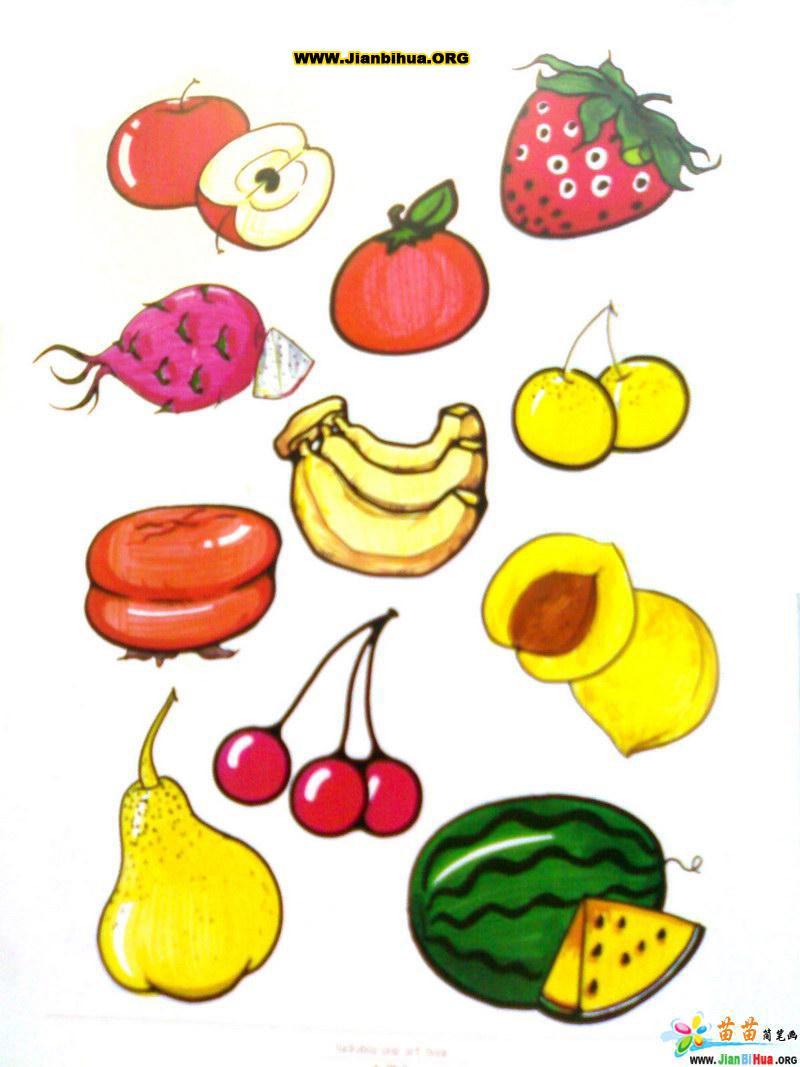 关于食物的简笔画彩色图片29张第2张