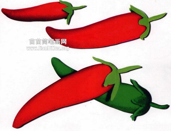 橡皮泥手工制作教程:小辣椒
