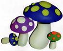 橡皮泥手工制作教程:蘑菇
