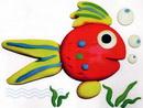 橡皮泥手工制作教程:金鱼