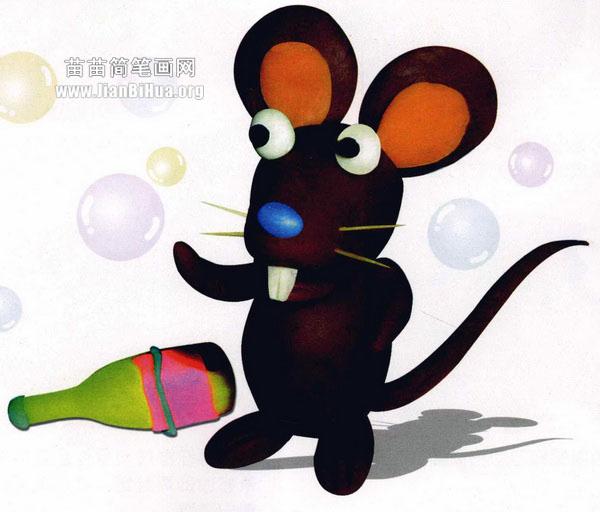 橡皮泥手工制作教程:小老鼠