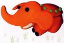 橡皮泥手工制作教程:大象