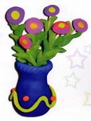橡皮泥手工制作教程:小花