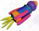 橡皮泥手工制作教程:火箭