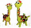 橡皮泥手工制作教程:长颈鹿