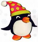 橡皮泥手工制作教程:企鹅