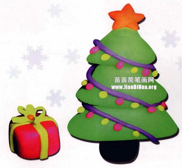 橡皮泥手工制作教程 圣诞树