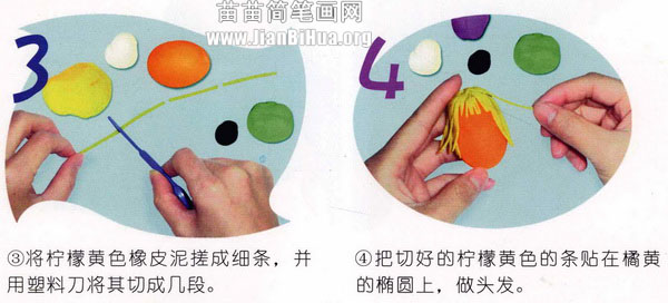 橡皮泥手工制作教程:卡通人